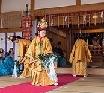 磐梯神社の舟引き祭りと巫女舞