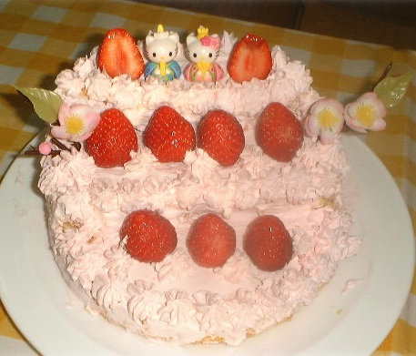おひな様ケーキ1