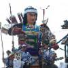 金津祭りの山車と金龍太鼓