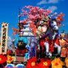 花巻祭りの山車と鹿踊り