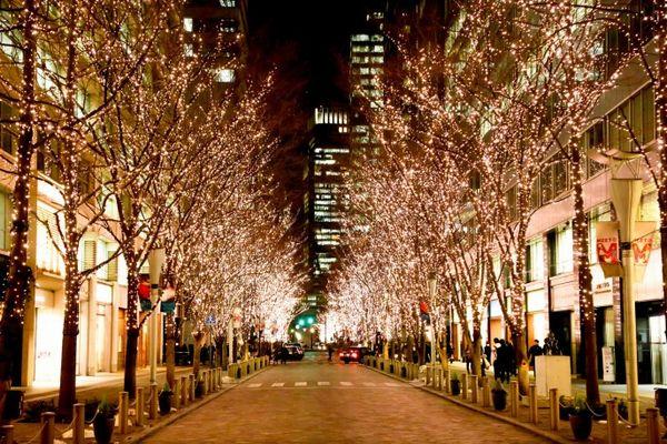 丸の内イルミネーション|丸の内仲通り東京駅周辺が光輝く